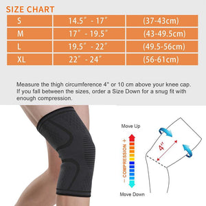 Knee Compression Sleeve Support For Men and Women(2 PACK)