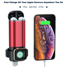 Load image into Gallery viewer, 3 IN 1 Portable Wireless Fast Charging for iPhone, AirPods & Apple Watch