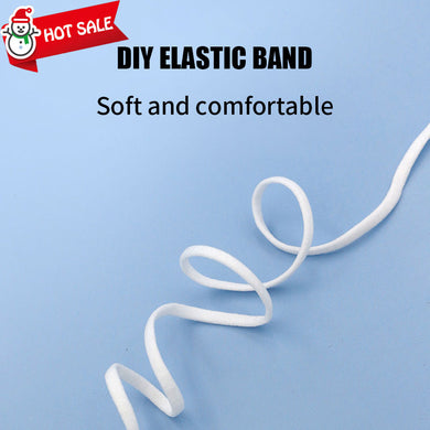 1/6 Inch(4mm)Flat Braided Elastic Cord/White Elastic Band (100 yards)