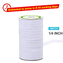 Load image into Gallery viewer, White High Quality Braided Elastic Cord/Elastic Band-50 Yard