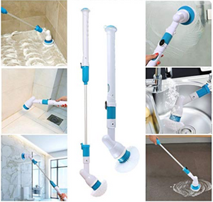 Electric Power Cleaning Scrubber With Extension Handle