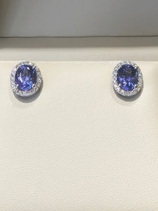 Oval Tanzanite Diamond Earrings - Q&T Jewelry