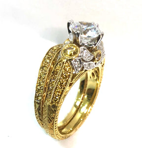 18k Vintage Bridal Set - Q&T Jewelry