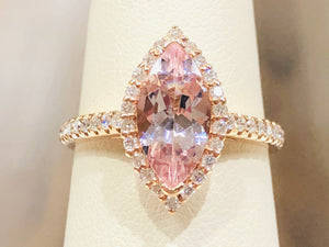 Morganite Diamond Ring - Q&T Jewelry