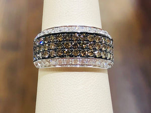 Chocolate Diamond Anniversary Ring - Q&T Jewelry