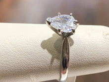 Load image into Gallery viewer, Pear Diamond Solitaire Engagement Ring - Q&T Jewelry