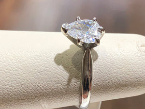 Pear Diamond Solitaire Engagement Ring - Q&T Jewelry