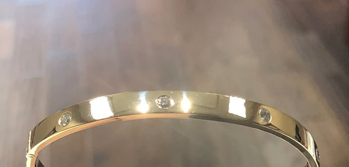 Ladies Diamond Bangle - Q&T Jewelry