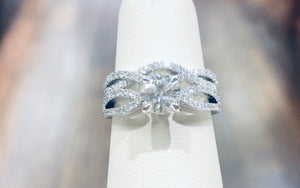 18k White Gold Diamond Bridal Set - Q&T Jewelry