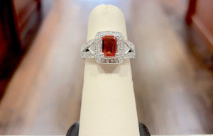 Red Sapphire & Diamond Ring - Q&T Jewelry