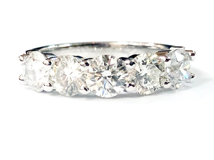14K White Gold 2.05ct Diamond Anniversary Ring - Q&T Jewelry