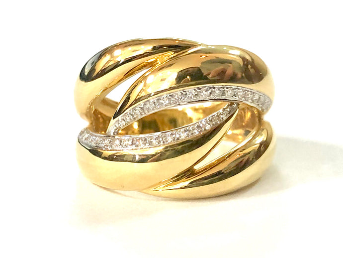 18k Yellow Gold Diamond Ring - Q&T Jewelry