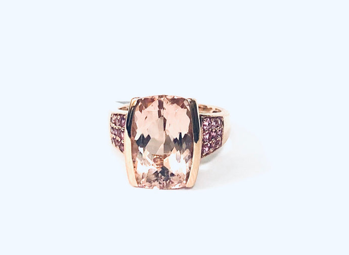 14k Rose Gold & Morganite Ring - Q&T Jewelry