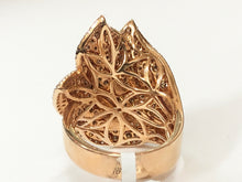 Load image into Gallery viewer, 18k Diamond Lotus Ring - Q&T Jewelry