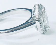 Load image into Gallery viewer, 14K White Gold Marquise Halo Ring - Q&T Jewelry