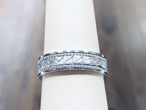 Men's Comfort-fit Woven Band - Q&T Jewelry