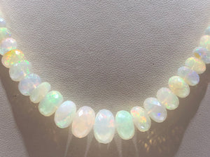 Ethiopian Opal Necklace - Q&T Jewelry