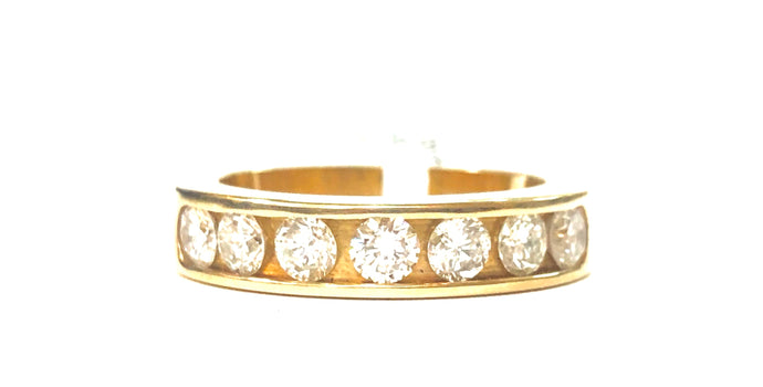 14k Diamond Wedding Band - Q&T Jewelry