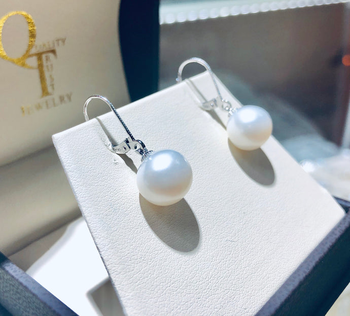 Pearl Drop Earrings - Q&T Jewelry