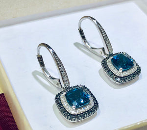London Blue Topaz Drop Earrings - Q&T Jewelry