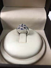 Load image into Gallery viewer, Sapphire & diamond antique style ring - Q&T Jewelry