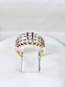 14k yellow gold 1ct diamonds bridal ring - Q&T Jewelry