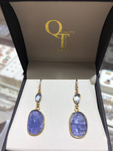 Load image into Gallery viewer, Tanzanite 14k dangle earrings - Q&T Jewelry