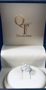 18k 1 CT diamond engagement ring