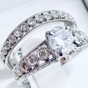Womens Diamond Bridal Set - Q&T Jewelry