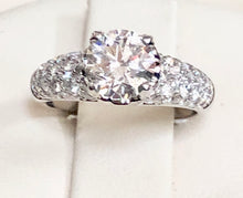 Load image into Gallery viewer, Pave Solitaire Diamond Engagement RIng - Q&T Jewelry