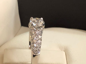 Pave Solitaire Diamond Engagement RIng - Q&T Jewelry