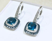 Load image into Gallery viewer, London Blue Topaz Drop Earrings - Q&T Jewelry