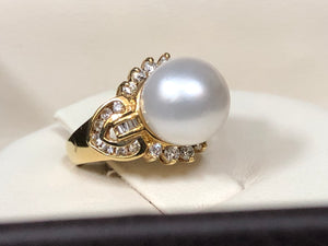 South sea pearl and diamond ring - Q&T Jewelry