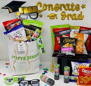 Gifts for Graduation, Graduation Gifts, Gift Bags, healthy snack gift bag, graduation gift ideas, high school graduation gifts, graduation gifts for him, graduation gifts for her