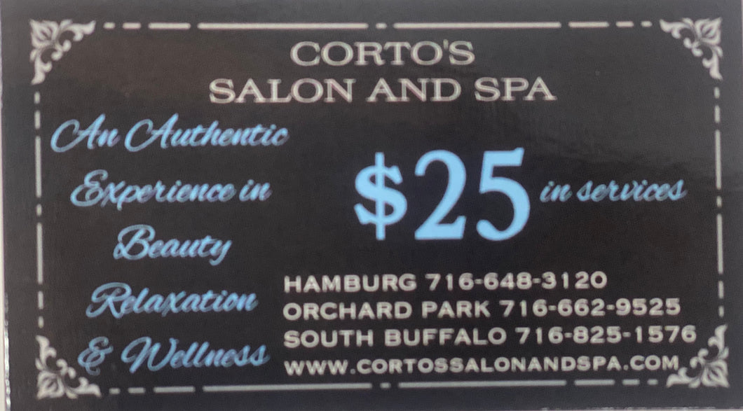 Corto's Salon and Spa Gift Card