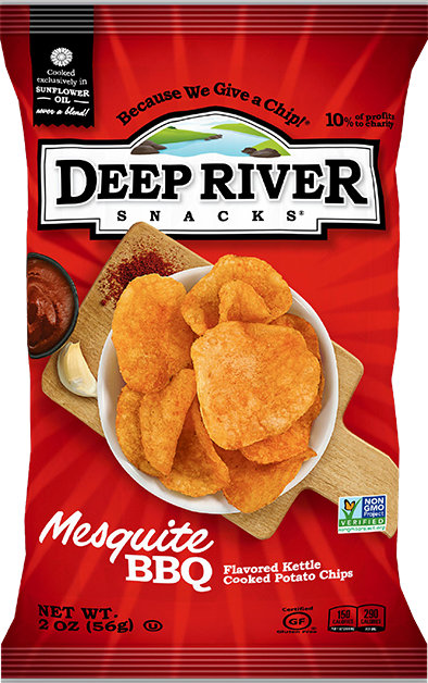 Deep River Mesquite BBQ Chips 2oz. Bag