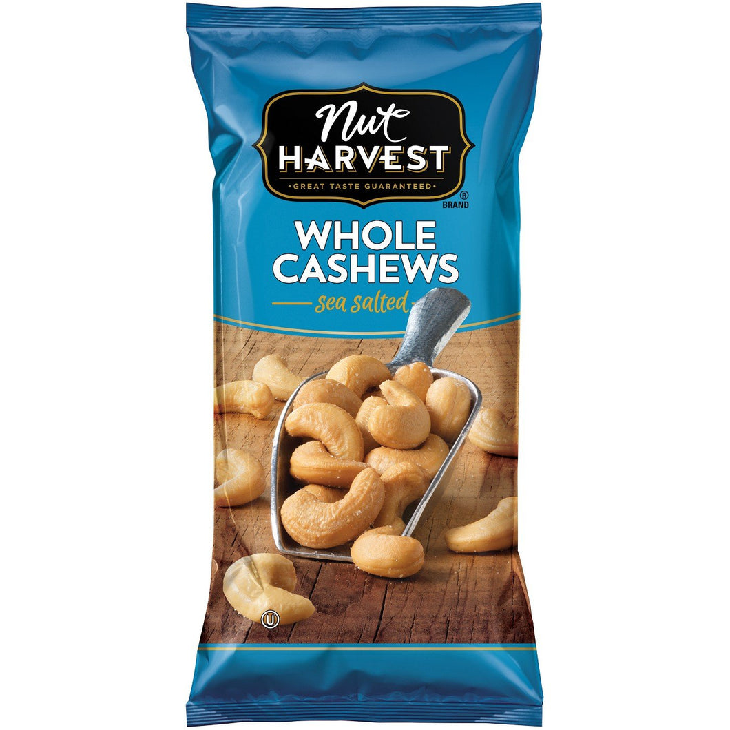 Nut Harvest Whole Cashews 3oz. Bag