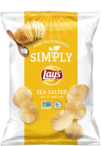 Simply Lays Sea Salt 1.25oz. Bag
