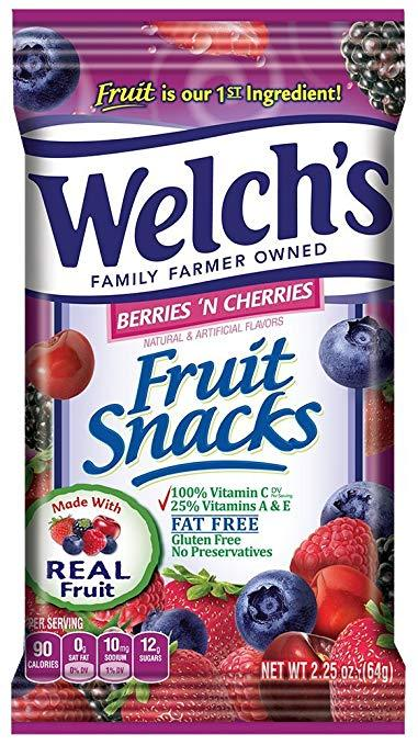 Welch's Mixed Berry Fruit Snacks 2.25oz Bag