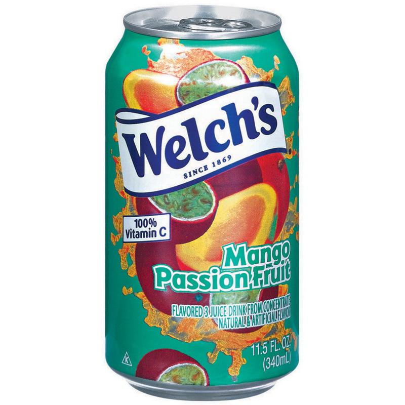 Welch's Mango Passion Fruit 12oz. Can