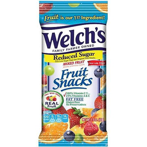Welch's Mixed Berry Fruit Reduced Sugar 1.5oz Bag
