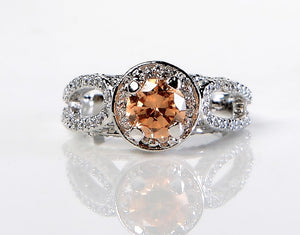 Light Brown Studded Zircon Ring