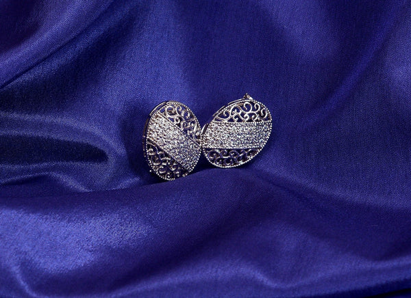 classical silver earrings design