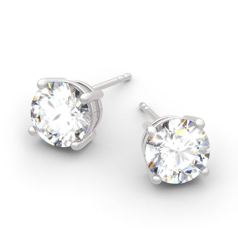 Silver Solitaire Studs