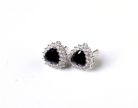 Black Zircon Studded Earring Buds