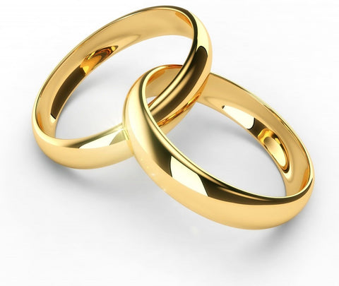 Simple Gold Plated Silver Couple Band