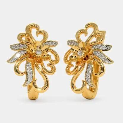 22 kt gold plated earrings design