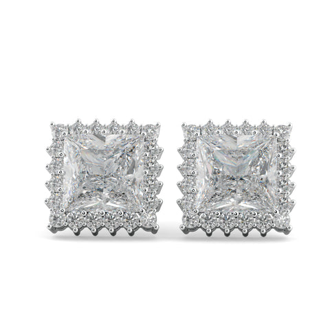 Classic Square Zircon Studded Earrings