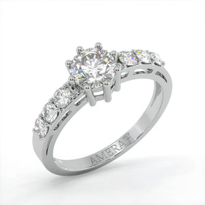 Amerah's Diamond cut Solitaire Ring