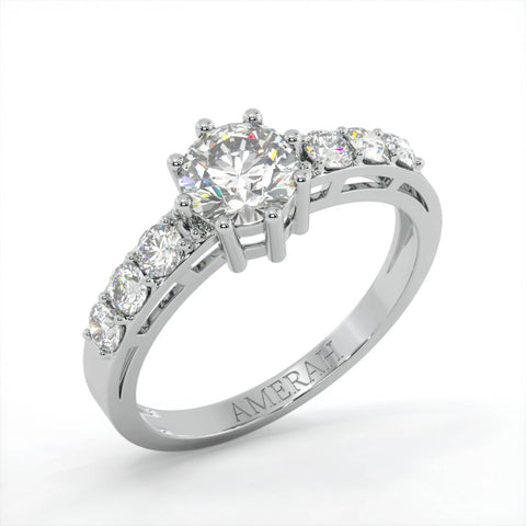 Image of Amerah's Diamond cut Solitaire Ring